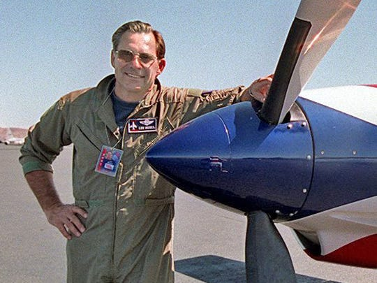 Lee Behel of San Jose, Calif., was a veteran air race pilot and a retired lieutenant colonel in the Nevada Air National Guard.
