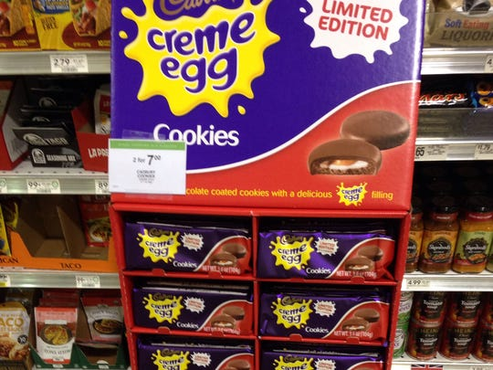 Cadbury creme egg cookies are out, and our staff loved