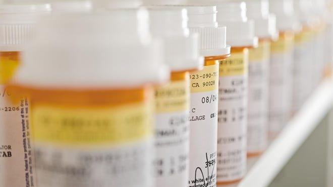 Prescription drugs, close up
