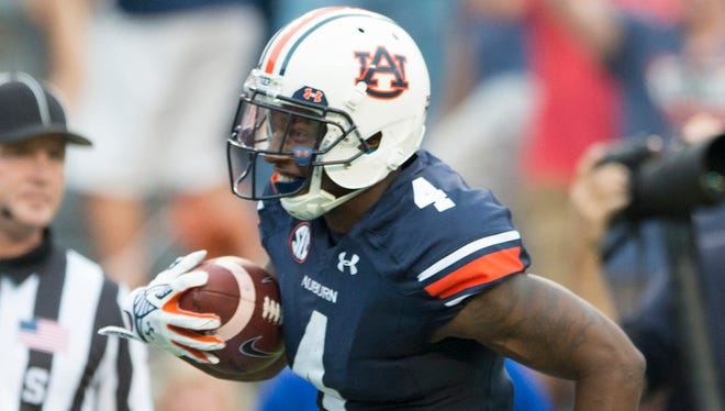Auburn wide receiver Quan Bray returned a punt 76 yards for a touchdown against Louisiana Tech on Saturday.
