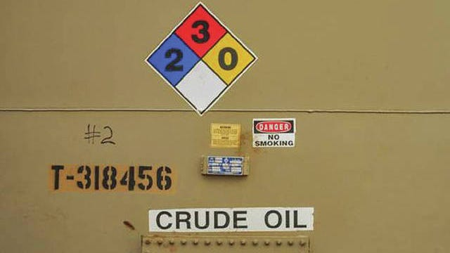 A crude oil storage barrel at a STACK well location. Oklahoman file