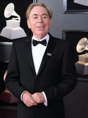 Andrew Lloyd Webber arrives for the 60th Grammy Awards