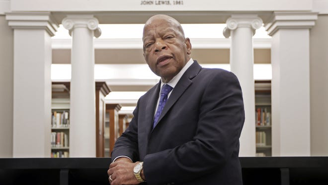 Rep. John Lewis, D-Ga., was recently honored Nashville, where the civil rights leader once organized sit-ins at the city's segregated lunch counters.
