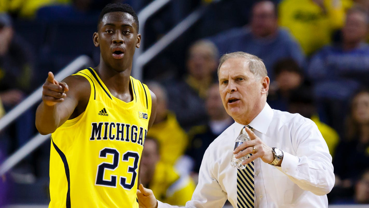 Michigan hoops projected as a no 3 seed in 2015 16 tourney for M go fish