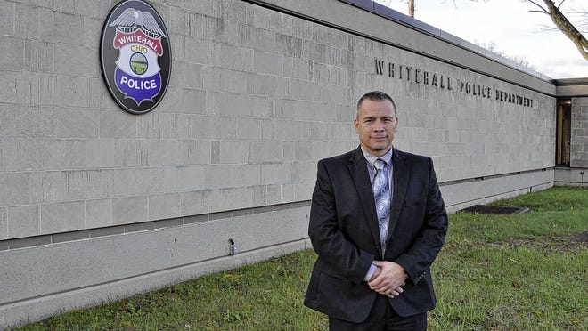 Whitehall police Chief Mike Crispen, pictured outside the police station, has introduced a new, three-year plan for his department that focuses on community engagement and outreach, more attention for older residents, better response to complaints, decreasing vehicle accidents and other goals.