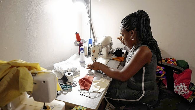 Anthonia Okonkwo, who runs Anthonia's Facemasks out of her home, is one of two vendors to sign up for Elevate Northland's online marketplace, which starts Friday, July 10.