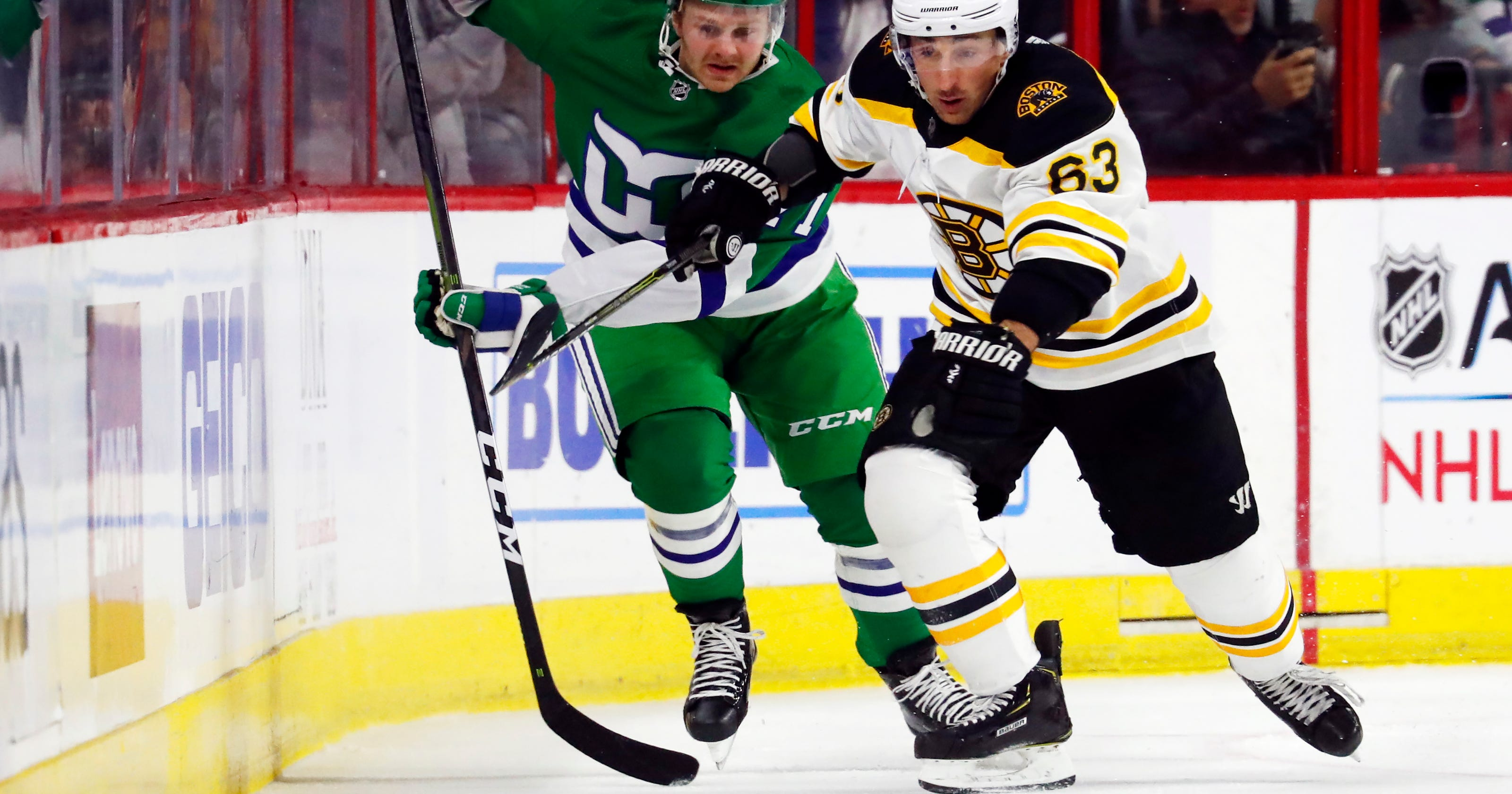 Aho leads Carolina past Bruins 5-3 on Whalers Night 9a87f8fce