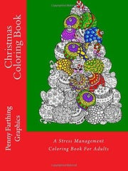 Christmas Coloring Book: A Stress Management Coloring Book For Adults ($8.99, Penny Farthing Graphics)