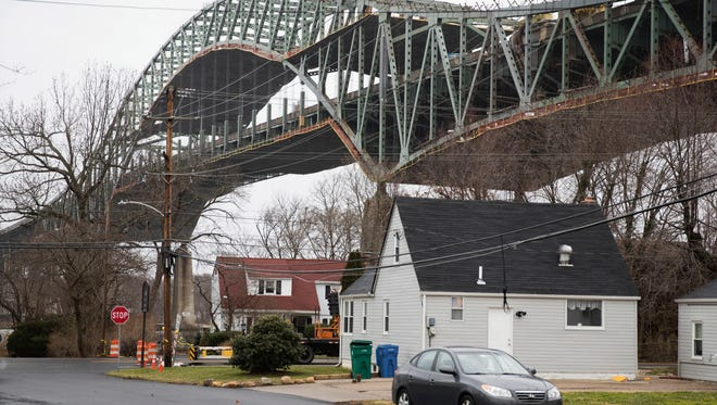 The Delaware River Bridge in Bristol, Pa., is expected to reopen in April.