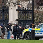 5 dead in vehicle, knife attack at British Parliament