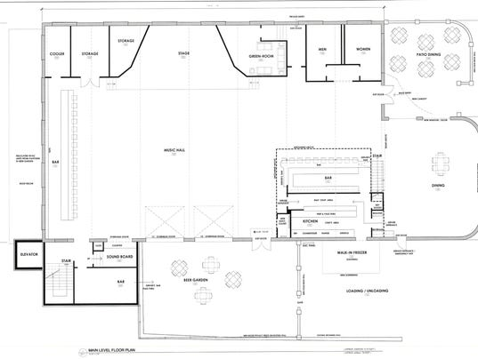 Handlebar bowling alley plans go before public for Bowling alley floor plans