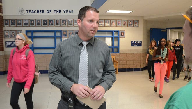 Harper Creek High School Principal Matt Montange will be leaving the district to be the next Plainwell Schools superintendent.