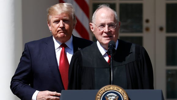 President Donald Trump and Supreme Court Justice Anthony