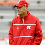 Oct 3, 2015; Champaign, IL, USA; Nebraska Cornhuskers head coach Mike Riley looks on prior to the game against the Illinois Fighting Illini at Memorial Stadium. Mandatory Credit: Mike Granse-USA TODAY Sports