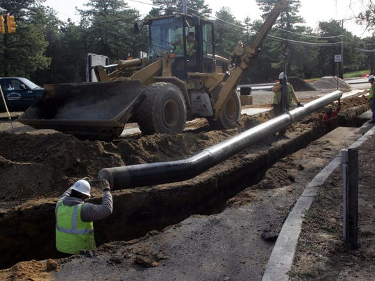 New Jersey Natural Gas workers install pipelines in Manchester in this 2009 photo.