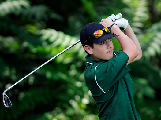 Golfers compete in the second round of the Dutchess County Amateur at the Red Hook Golf Club on Saturday.