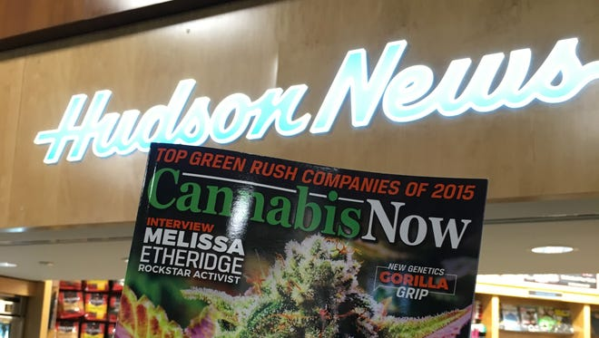 """Cannabis Now"" magazine is now carried in airport stores nationwide."