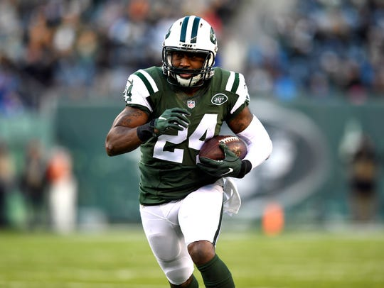 Darrelle Revis' only interception of the 2016 season came in his final game with the Jets in January.