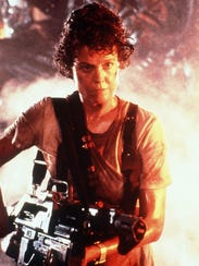 Sigourney Weaver in a scene from 'Aliens,' which has
