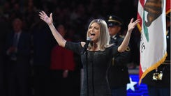 LOS ANGELES, CA - FEBRUARY 18:  Fergie sings the National Anhtem prior to the NBA All-Star Game 2018 at Staples Center on February 18, 2018 in Los Angeles, California.  (Photo by Kevork Djansezian/Getty Images) ORG XMIT: 775123208 ORIG FILE ID: 920167578