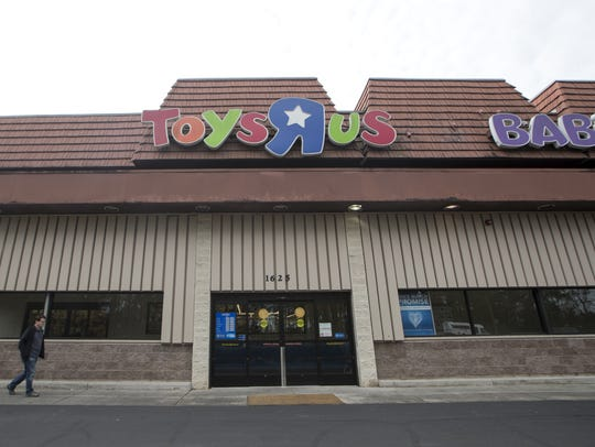The Toys R Us store on Apalachee Parkway is one of