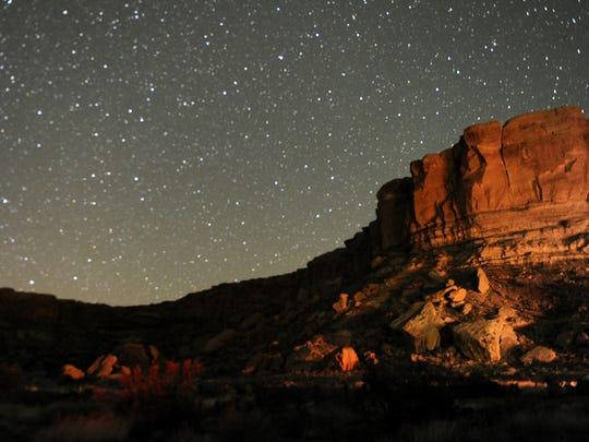 Stars illuminate the sky on April 24, 2014, during