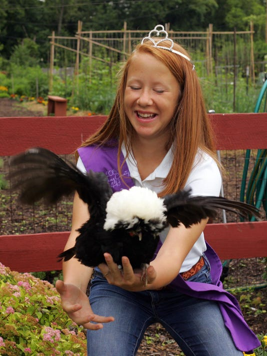Rachel Allen, 14, of Alexandria, is the 2015 Licking County Poultry Queen. The Ohio Department of Agriculture is banning live bird exhibitions at fairs across Ohio to help prevent the spread of avian flu.
