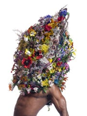 A headdress by Nick Cave.