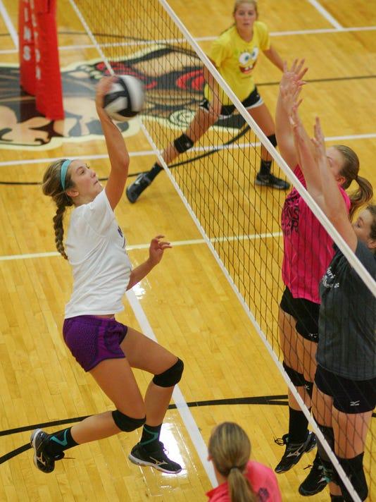 Coshocton High School volleyball practice