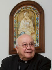 Bishop Paul Bootkoski speaks about the upcoming visit of Pope Francis to the United States during an interview, Monday, September 14, 2015, at the St. John Neumann Pastoral Center in Piscataway, NJ.