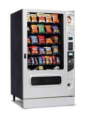 A traditional vending machine model designed and manufactured by The Wittern Group in Clive, Iowa.