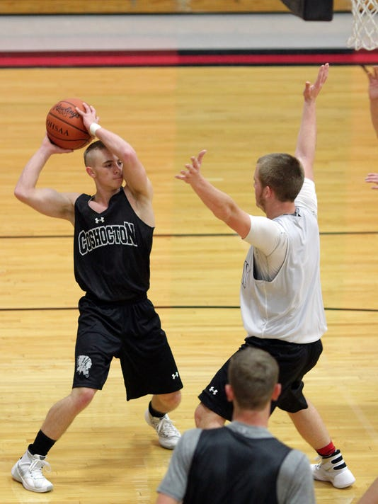 Coshocton High School boys basketball practice