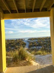 Navarre Beach on the Florida panhandle, where the sand