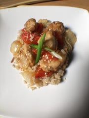 Sesame Chicken is made with low-sodium soy sauce.