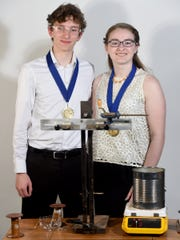 Levi Jones and Mickayla Smith of Red Lion Area High School were winners at the 2016 York County Science fair with their project, Reduce, Reuse, Recycle: Optimizing the reclamation of polyethylene plastics for utilization as fluorescent thread fibers. The duo figured out a way to use recycled materials to create glow-in-the-dark fibers and make them stronger, for use in the textile industry.
