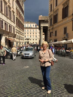 Detroit Free Press reporter Ellen Creager reporting from Rome in May, 2016. She was travel writer from 2003 to 2016.