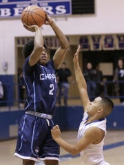 Chapin's Nacio Dillard shoots over Bowie's Bobby Lerma in the first half of their game Friday at Bowie High School.