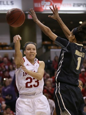 FILE – Hoosiers guard Alexis Gassion (23) had a big night in IU's NIT win over SMU.