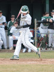 Howell's Garrett Breault is hit by a pitch in a 4-3