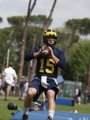 Michigan quarterback Alex Malzone during the Wolverines