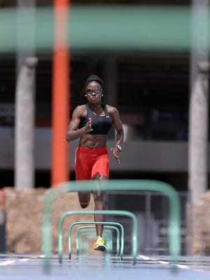 UTEP's Tobi Amusan will compete in the 100-meter hurdles at the NCAA National meet.