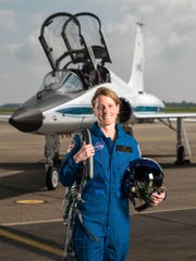 2017 NASA Astronaut Candidate - Loral O'Hara.  Photo Date: June 6, 2017.  Location: Ellington Field - Hangar 276, Tarmac.  Photographer: Robert Markowitz