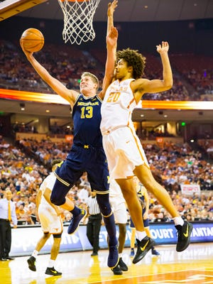 U-M's Moritz Wagner is averaging 15.6 points and 7.6 rebounds a game this season.