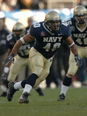 Former Estero High star David Mahoney as a player for Navy.