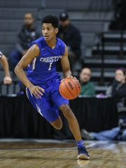 Southfield Christian guard Harlond Beverly  brings