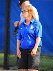Salem softball coach Bonnie Southerland keeps tabs