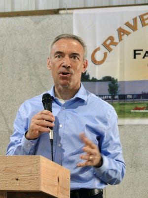 U.S. Deputy Secretary of Agriculture Steve Censky visited Crave Brothers Farm on Wednesday where he commended the family for their sustainable agriculture practices and green energy production.