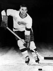 Ted Lindsay, captain of the Detroit Red Wings, in 1956.