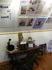 This exhibit at the Arcadia Historical Museum summarizes Harriet Quimby's accomplishments.