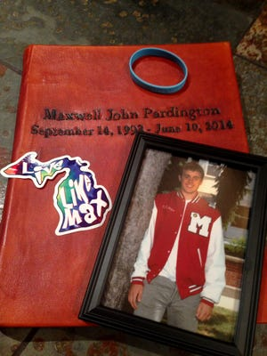 Max Pardington died suddenly June 10, 2014, of hypertrophic cardiomyopathy. He was 20 years old. His parents, Lisa and John Pardington of Canton, have created a foundation in his name to raise money for free heart screenings so another parent might be spared their suffering. The foundation, called Live Like Max, already has raised about $40,000 for the cause. It will host a public heart screening clinic Jan. 31 in Canton.